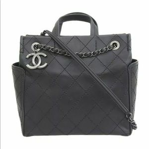 CHANEL 2Way Lambskin 21st Leather Shoulder Handbag